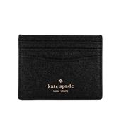 【KATE SPADE】Lola 亮片附禮盒卡片夾(黑色) WLR00214 001