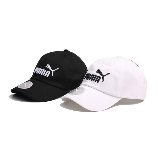 PUMA 基本款 大LOGO 白 黑 棒球帽 男女皆可帶 可調 魔鬼氈 (布魯克林) 052919-