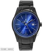 【台南 時代鐘錶 SIGMA】簡約時尚 藍寶石鏡面時尚腕錶 9814M-B3 藍/黑鋼 41mm 平價實惠好選擇