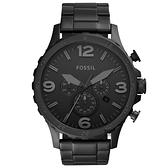 FOSSIL 大世紀戰神三眼計時手錶-IP黑 JR1401