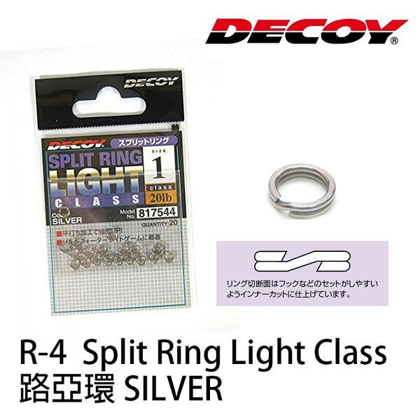 漁拓釣具 DECOY R-4 Split Ring Light Class 路亞環 #0、#00銀色