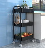 廚房置物架 小推車置物架衛生間落地家用臥室浴室可移動多層廚房收納儲物架子