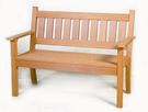 【南洋風休閒傢俱】戶外休閒桌椅系列- 塑木雙人公園椅 戶外公園椅 騎樓等待椅 (w14001)