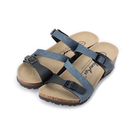 NEWAGE Z字腳床楔型拖鞋 黑藍 女鞋 鞋全家福