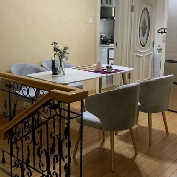 現貨 餐桌北歐大理石餐桌家用小戶型輕奢餐桌椅組合後現代簡約長方形飯桌子SP【2021鉅惠】