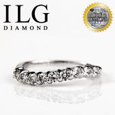 【ILG鑽】頂級八心八箭擬真鑽石戒指-情定紐約款 RI037 微波感完美1/3圈線戒