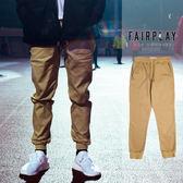 【GT】FairPlay 01 Sports 卡其 長褲 修身 休閒 素色 棉質 抽繩 彈性 美牌 運動褲 慢跑褲 縮口褲 束口褲