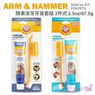 【彤彤小舖】 Arm & Hammer 鐵鎚牌 酵素潔牙牙膏套組 3件式 牙膏67.5g 犬用牙膏 貓用牙膏