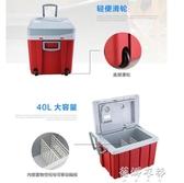 迷你行動冰箱12v 40L車載專用冰箱可行動車載冰箱制冷戶蓓娜衣都