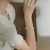 花式珍珠手鏈簡約小眾設計ins風女創意不對稱個性人頭像手鐲手飾
