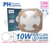 PHILIPS飛利浦 LED 若欣 CL200 10W 2700K 黃光 全電壓 吸頂燈 _ PH430862
