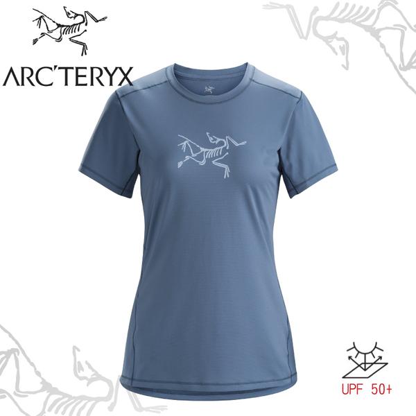 【ARC'TERYX 始祖鳥 女 Phasic 快乾短袖圓領衫《夜影灰》】18915/透氣/吸濕排汗/防曬/T恤/運動衫