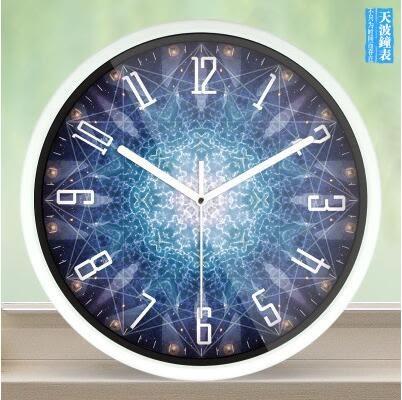 創意客廳鐘錶大個性時鐘靜音臥室時尚復古藝術壁掛錶【509】