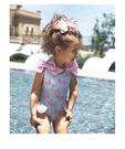 兒童泳衣 女童火烈鳥可愛蝴蝶結連體泳裝0-8歲嬰兒幼兒寶寶游泳衣 88315