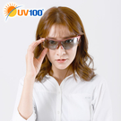 UV100 防曬 抗UV Polarized變色太陽眼鏡-流暢半框