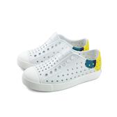 native JEFFERSON BLOCK 懶人鞋 洞洞鞋 白色 小童 童鞋 13100102-8763 no908