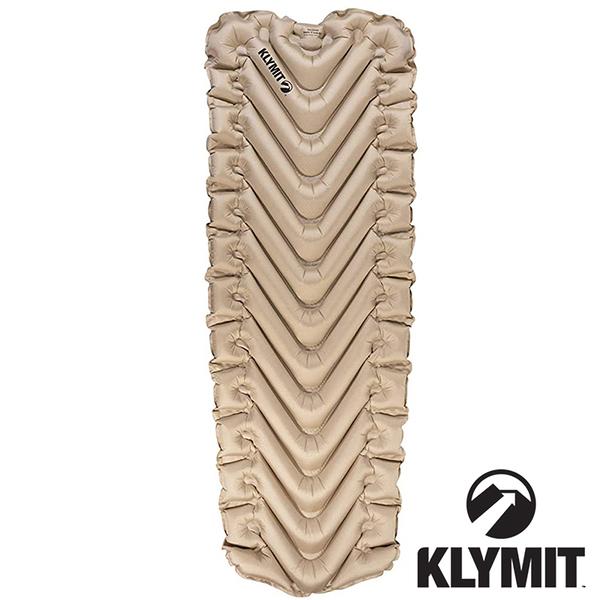 【美國Klymit】INSULATED STATIC V Luxe SL全身睡墊『黃褐』吹氣款充氣睡墊.露營睡墊.空氣墊 06ISCY01D