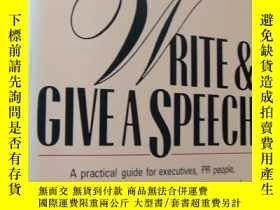二手書博民逛書店How罕見to Write and Give a Speech
