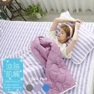【多色任選】COOL涼感平單式6尺雙人加大針織涼墊+涼枕墊三件組-台灣製|TTRI涼感測試|SGS檢驗