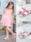 女童涼鞋新款潮小女孩公主鞋露趾小學生韓版中大童夏季兒童鞋 時尚潮流