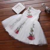 正韓新款女童夏裝雪紡背心連衣裙1-2-3-4歲女寶寶5網紗公主裙子潮洋裝禮物限時八九折