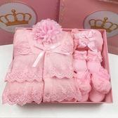 裝嬰兒禮盒純棉加厚夾棉嬰兒外出服寶寶棉衣套裝新生兒送禮彌月『櫻花小屋』