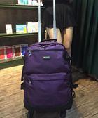 錦豪韓版休閒尼龍雙肩拉桿背包男折疊大容量行李袋旅行箱20寸男女