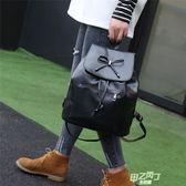 交換禮物 後背包 新品後背包女包正韓皮料書包背包學生書包旅行背包包女