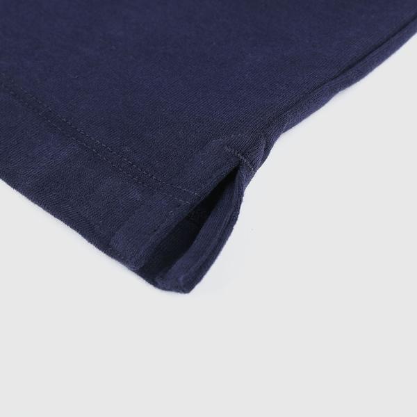 Gap男裝 碳素軟磨系列厚磅密織 基本款素色短袖T恤 735900-海軍藍