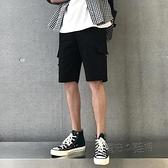 港風夏季工裝短褲ins潮流直筒五分休閒褲寬鬆bf多口袋褲子男 夏季狂歡