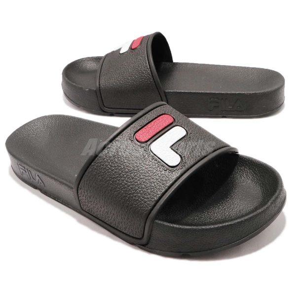 FILA 拖鞋 S316S 黑 白 復古 涼拖鞋 韓系 情侶鞋 經典LOGO 男鞋 女鞋【PUMP306】 4S316S021
