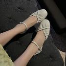 真皮柔軟淺口鞋 側空荷葉邊低跟鞋 韓版褶皺平底鞋/3色-標準碼-夢想家-0331