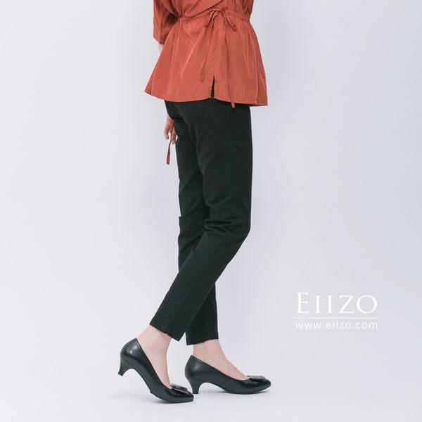 【EIIZO】彈力伸縮休閒褲(黑)