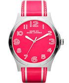 Marc Jacobs Sport 條紋系列腕錶-螢光粉 MBM1231