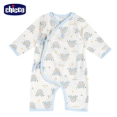 chicco-小兔滿底印花肚衣式兔裝-藍