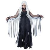 萬聖節服裝黑色惡魔魔女吸血鬼恐怖僵屍聚會派對女王長裙黑暗幽靈