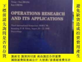 二手書博民逛書店OPERATIONS罕見RESEARCH AND ITS APPLICATIONS-Lecture Notes i