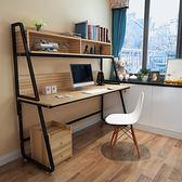 電腦桌台式桌子簡約現代辦公桌家用書桌書架組合簡易筆記本寫字桌 YTL