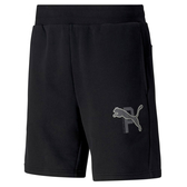 PUMA 基本系列 Athletics 男款黑色8吋短褲-NO.58517601