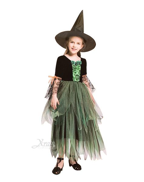 森林綠巫婆(小孩),萬聖節服裝/化妝舞會/派對道具/尾牙變裝/cosplay/巫婆,節慶王【W380035】