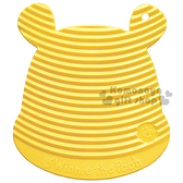 〔小禮堂〕迪士尼 小熊維尼 日製矽膠造型洗衣板《S.黃.大臉.蜜蜂》附吸盤 4904121-30001