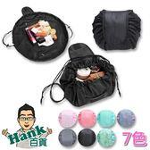 ★Hank百貨★韓式爆款化妝包 大容量抽繩收納包 旅行神器 束口袋 【B00086】