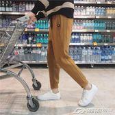 冬季新款男士褲子韓版潮流休閒褲加絨加厚長褲修身運動小腳褲   潮流前線
