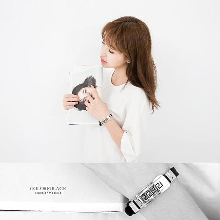 西德316L鋼錶帶式手環.無限制手圍都可配戴~街頭潮流時尚情侶對鍊【NA98】單個
