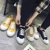 男鞋夏季新款帆布鞋男士透氣板鞋休閒男鞋子韓版潮流百搭小白鞋男 one shoes