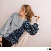《AB11520-》內刷毛豹紋絨毛羅紋長袖上衣 OB嚴選