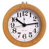臥室靜音鬧鐘木頭創意時鐘學生兒童床頭鐘表個性夜光電子小鬧鐘優樂居生活館