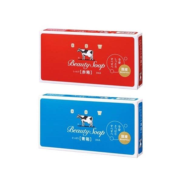 牛乳石鹼 COW 牛乳香皂(3入裝) 玫瑰滋潤型/茉莉清爽型 兩款可選【小三美日】