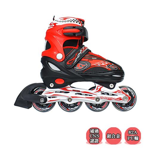 成功 鋁合金伸縮直排鞋 溜冰鞋-黑色,搭配【護具系列│原價$600-加購價只要$199元】