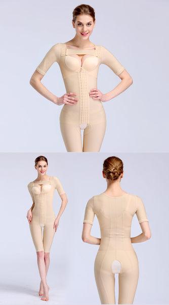 收腹美體短袖加強版束身連體束身-Jamn1009